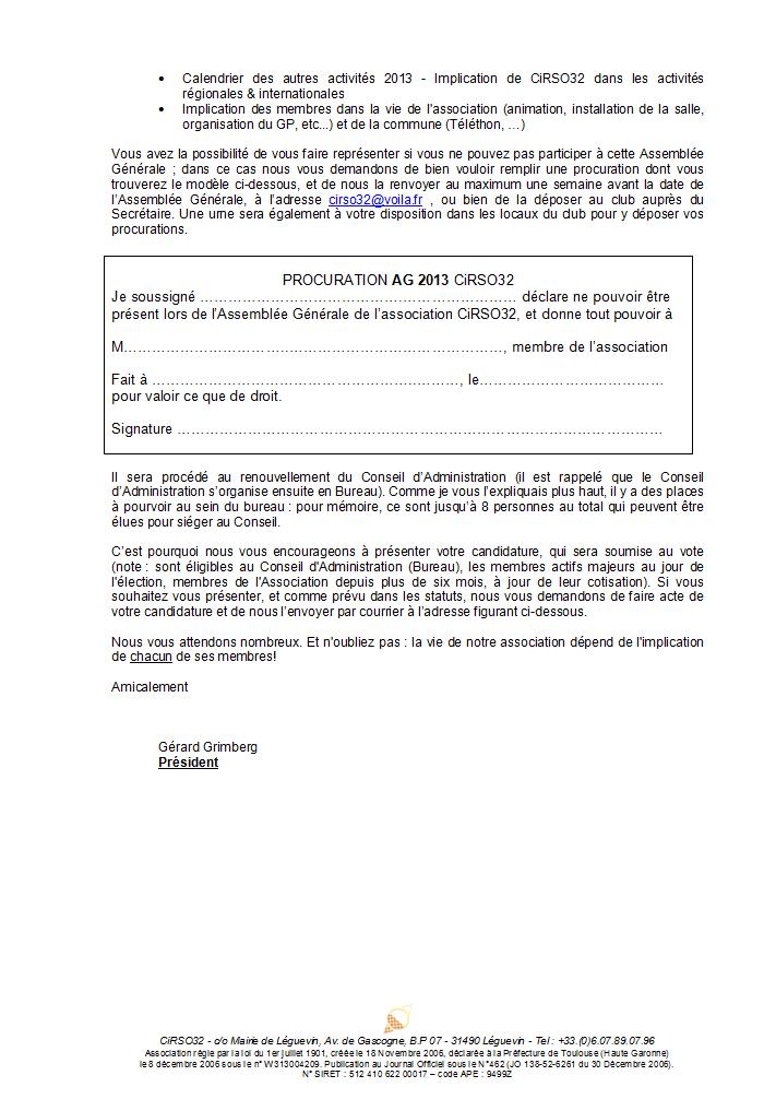 Invitation Assemblée Générale 2013 - Samedi 13 avril à 10h30 CiRSO32_invit_AG2013_p2