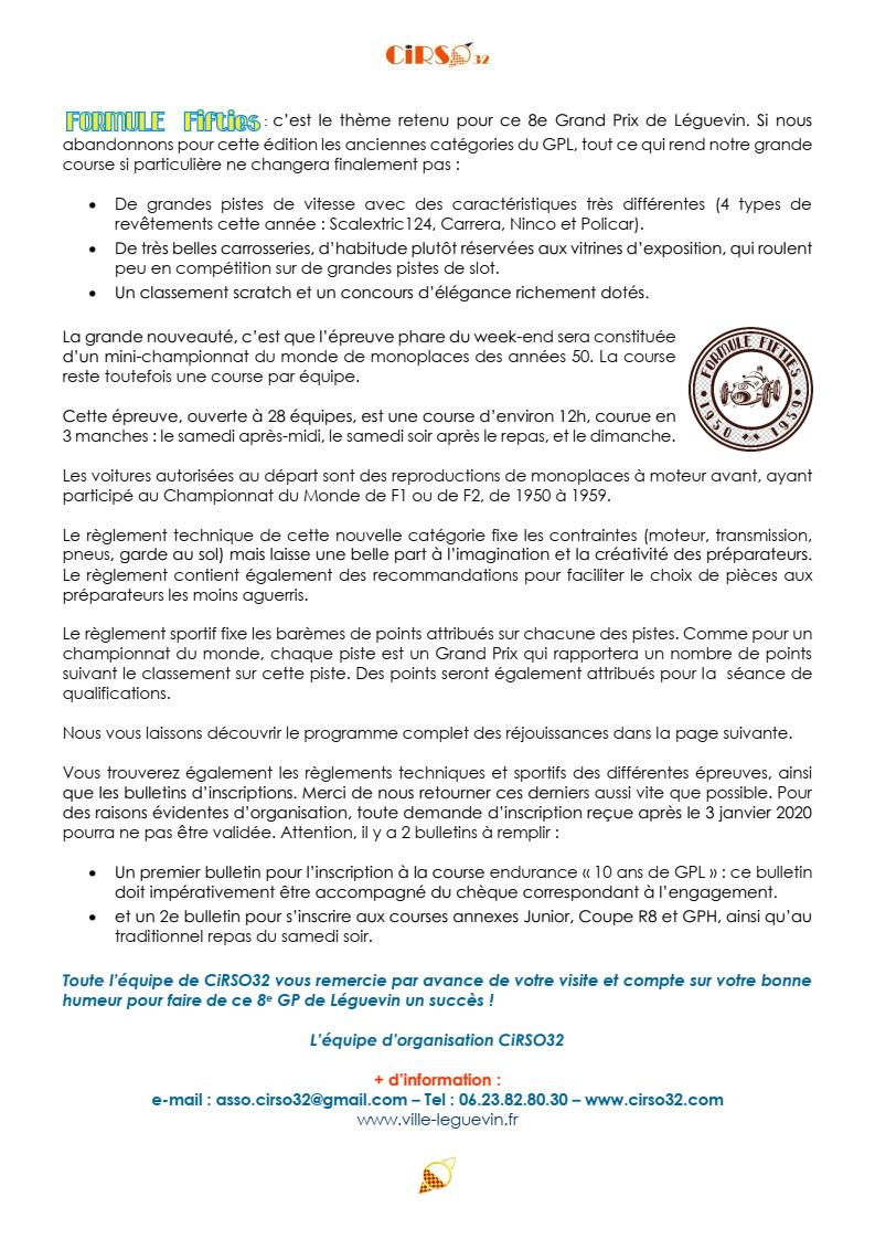 GPL 2020 (Grand Prix de Leguevin) Le programme complet P03