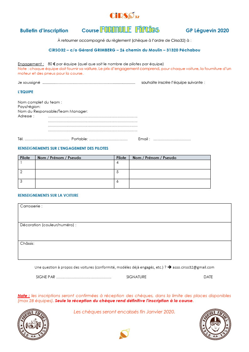GPL 2020 (Grand Prix de Leguevin) Le programme complet P05