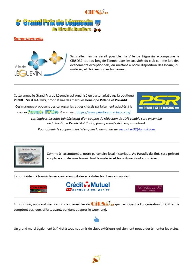 GPL 2020 (Grand Prix de Leguevin) Le programme complet P08